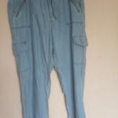 Летние джинсы джоггеры на пышечку. разм.46 (xxl)