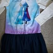 Яркое итальянское платье для девочки, размер 134