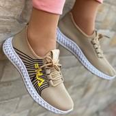 Супер крутые стильные женские кроссовки сеточкаРазмер 37