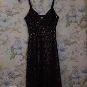 Стильное черное платье Bon Prix в паетки ! УП скидка-10%