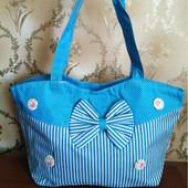 Лот 3 шт, распродажа остатков. Женская пляжная сумка на молнии.