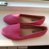 Фирменные новые красивые туфельки-балетки из эко-замши р.36-37 на ножку 23-23,5см