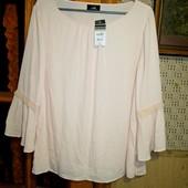 Качество! Шикарная блузочка/нежный персик от Wallis, р. евро 48