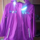 куртка, непромокайка, внутри флис, р 6-7 лет 116-122 см, Xmail. состояние отличное