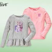 комплект: две стильные футболки с длинным рукавом, лонгсливы на девочку от Alive