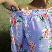 Собираем лоты!! Блуза с плечами на пышную красу, размер 18/14/46,100 %вискоза