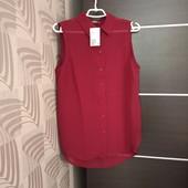 Фирменная новая шифоновая блуза-туника с удлиненной спинкой р.12-14