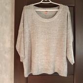 Фирменная красивая кофточка-свитерок в мелкую пайетку отличное состояние р.18-22