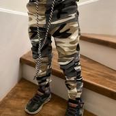 Джоггеры на резинке для мальчиков с карманами. Размер 98-104.