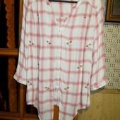 Качество!!! Стильная натуральная /блуза/рубашка Debenhams collection, в отличном состоянии