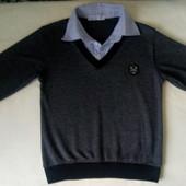 Рубашка - обманка, рост 128
