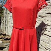 Платье коралловое р14 на Л/Хл