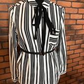 Блуза рубашка в полоску от манго mng mango