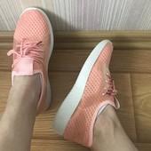 Замечательные текстильные кроссовки 36-40 р маломерки