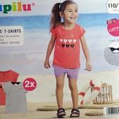 Комплект 2 шт футболки на девочку Lupilu Германия размер 110/116