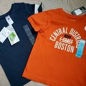 Две фирменные футболки одним лотом, размер 104