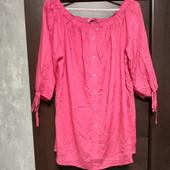 Фирменная красивая вискозная блуза в состоянии новой вещи р.14-16