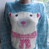 Теплый нежный вязаный подростковый свитер