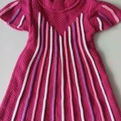 Вязаное платье размер 86