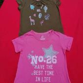 Лот с 2 котоновых футболок Lupilu 98/104