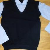 Качественные обманки. Рубашка/жилетка. В школу.