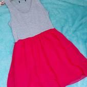 Красивое комбинированное платье на девочку подростка или девушку XS-S