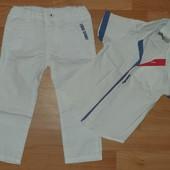 Лёгкие джинсы+рубашка в отличном состоянии на 2-3 года