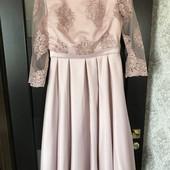 Шикарное платье для мамы из фемили-лук (есть такое же на годик)