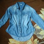 Чудова котонова рубашка під джинсову унісекс 11 - 12 р.