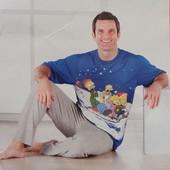Прикольная мужская пижама домашний костюм,футболка+штаны,The Simpsons(от Lidl). Размер M. упаковка!