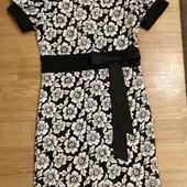 Трикотажное тёплое платье на осень-весну 5-8 лет
