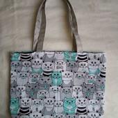 Текстильная эко сумка-шопер