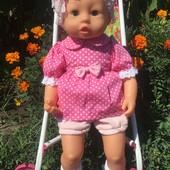 Кукла-ребёнок Bayer рост 47см. в новом фирменном платье !!!! Отличная!!!!