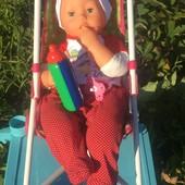 Кукла-ребёнок в новом костюмчике с аксессуарами фирмы Bayer 48см.!!!! Издаёт 24 разных звуков!!!