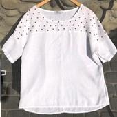 Рубашечка с клубничками.100%лен