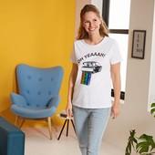 Классная футболка с паетками перевёртышами Esmara Германия размер евро М (40/42)