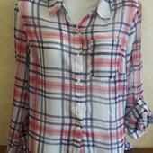Шифоновая блузка-рубашка от ТСМ(германия), размер 40 евро=46-48
