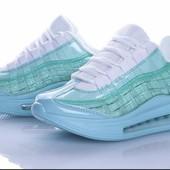 Мега популярные кроссовки на прозрачной платформе 36,39 р цвет бирюза, в магазинах от 600 грн