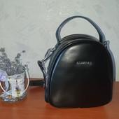 Стильный рюкзак -сумка от Alex Rai. Натуральная кожа