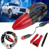 Автомобильный вакуумный пылесос с моющим фильтром, фонариком и насадками