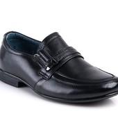 Натуральная кожа!стильные туфли для мальчиков!