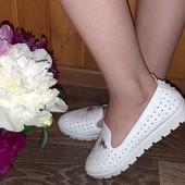 Лёгкие летние туфельки- балетки для юной леди. Супинатор.