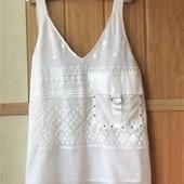 Качество! Стильный белоснежный топ/блуза от Next, p.eur 50