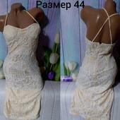 Шикарное кружевное платье