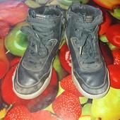 Много лотов,собирайте!фирменные хайтопы-ботинки Geox 18.5 см стелька!кожаные