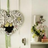 Декоративное пасхальное сердце Melinera, лоза, белое 29 * 28 * 5 см
