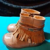 Полностью кожаные деми ботинки Woeffies, разм. 21 (13,5 см внутри). Сост. хорошее!