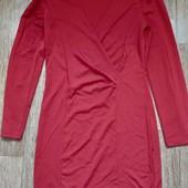 Красное платье-футляр, р. 38-40