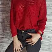 Яркий женственный пуловер сетка Blue Motion. Размер M, евро 40-42