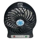 Мини вентилятор с аккумулятором 18650. 3 скорости.цвет случайный